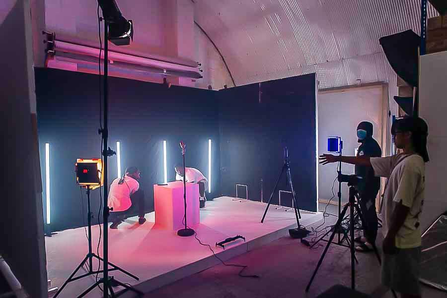building a music video set