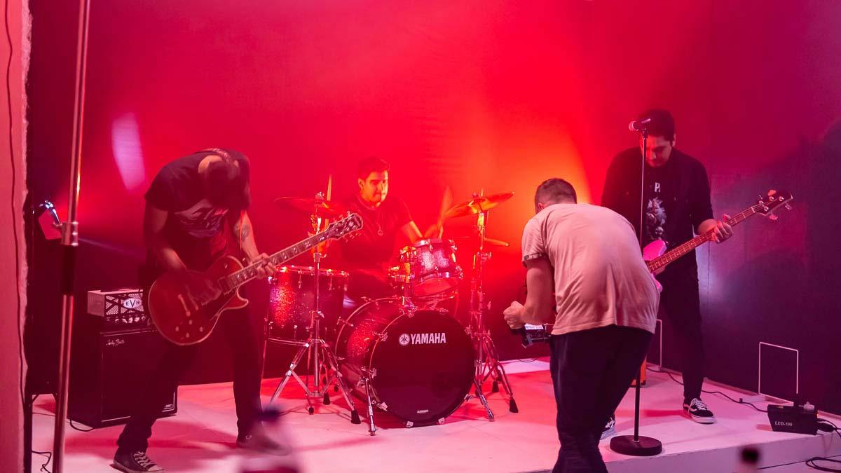 rock music video shoot bts