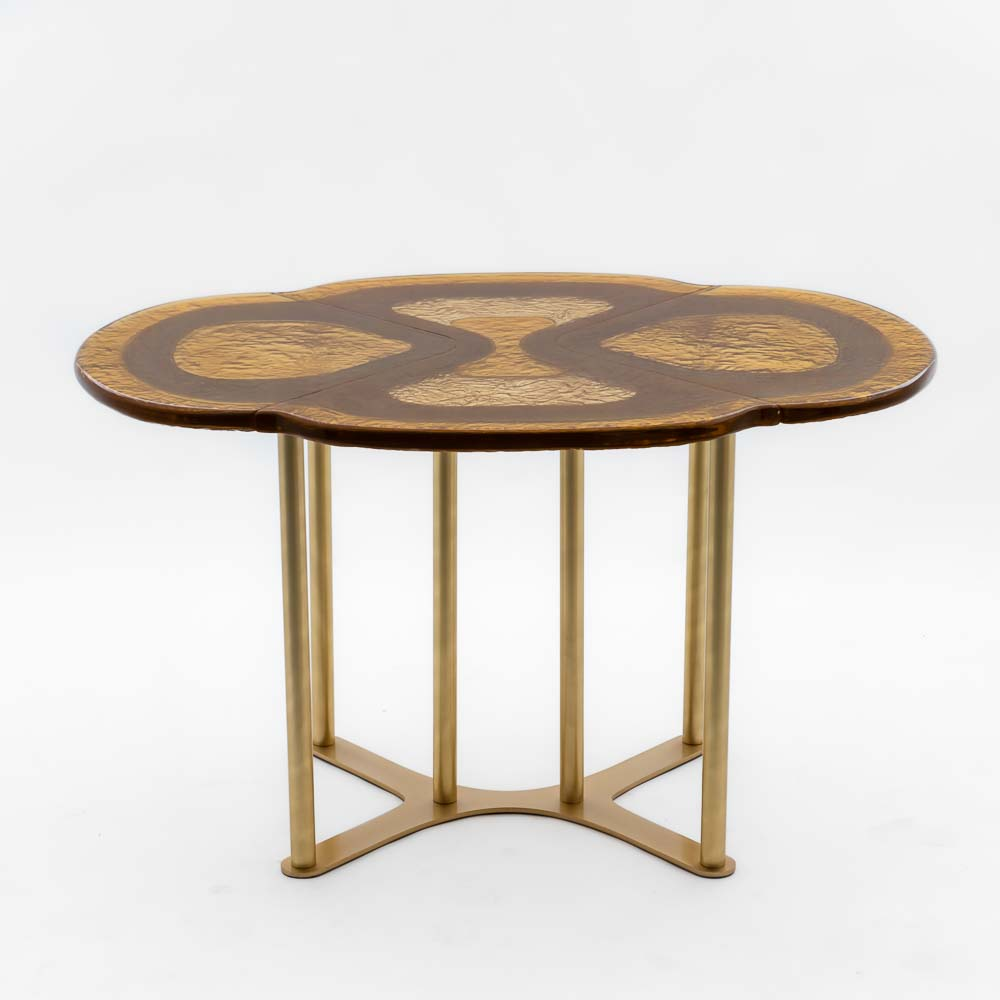 large gold dining table