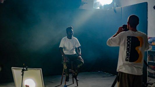 music video filming in studio
