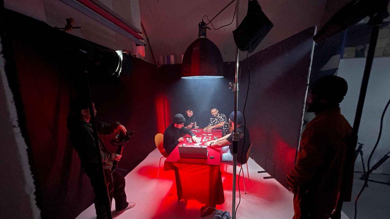 music video poker room scene