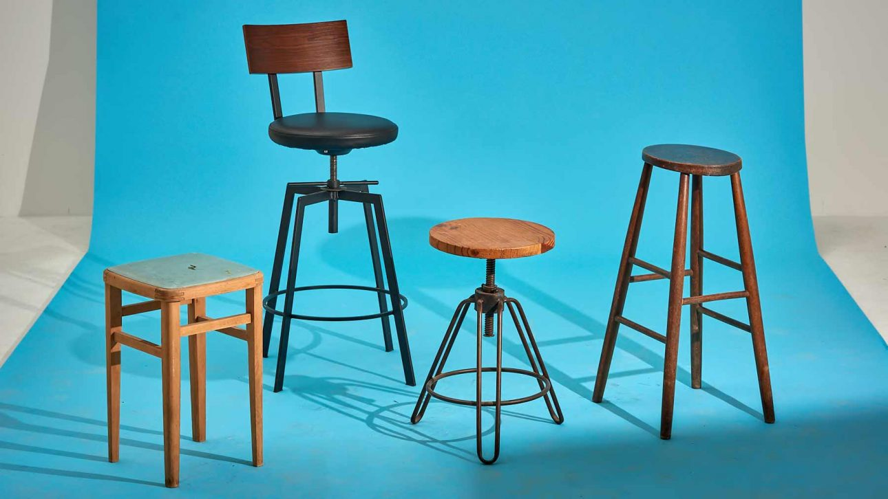 stools for posing sitting