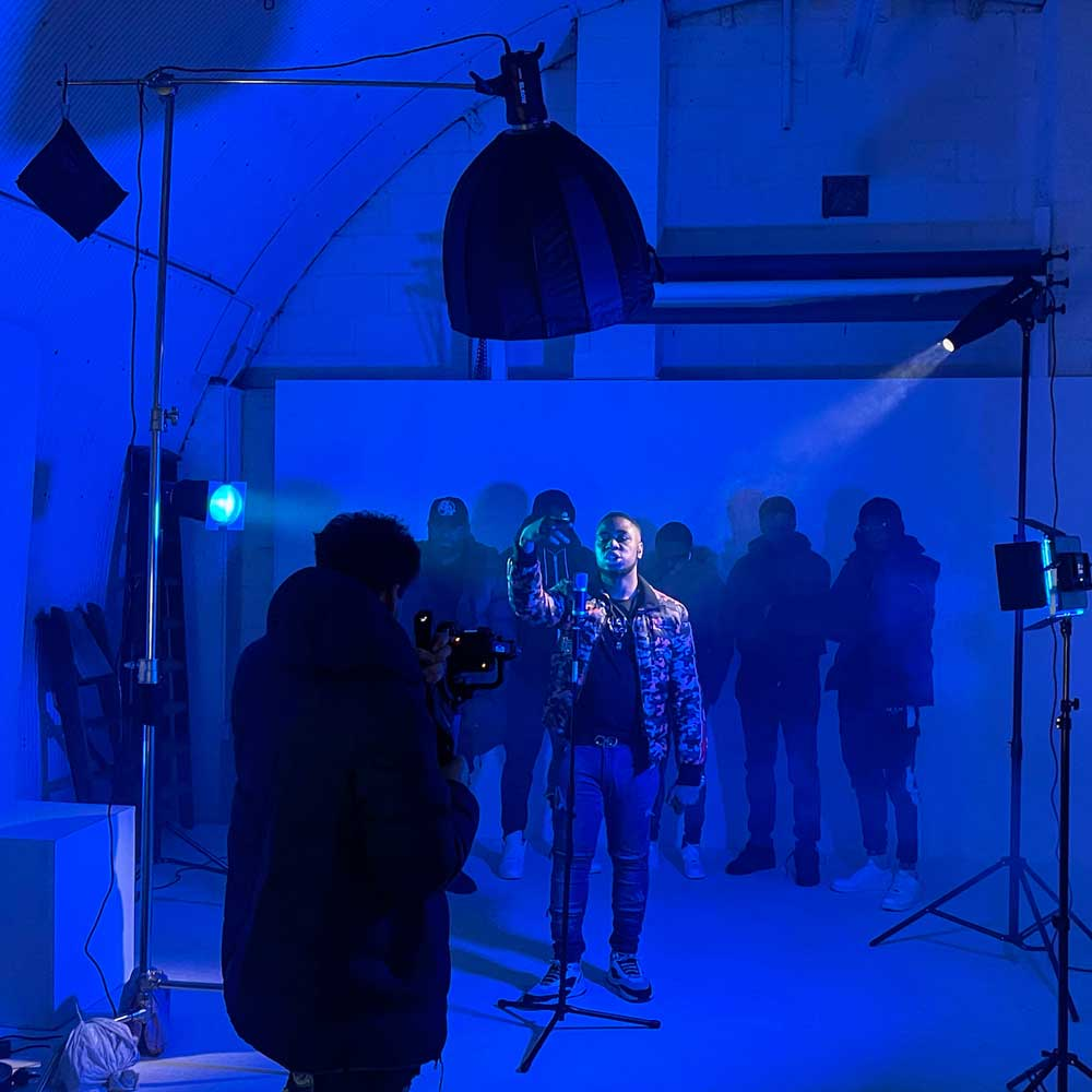 rap music video shoot