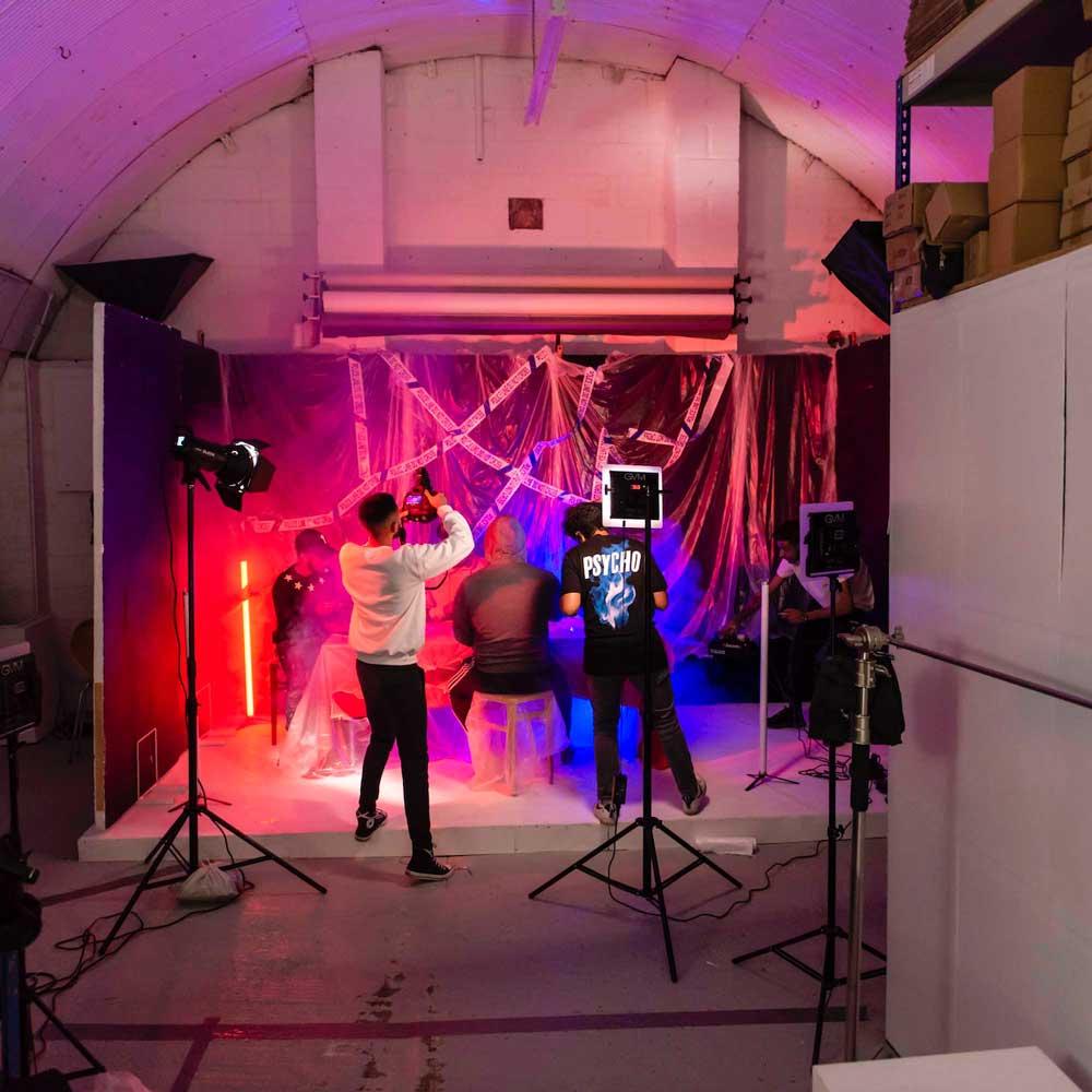 rap music film shoot